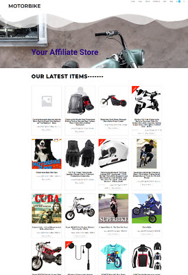 Motorbike Uk Website With Free Domain + Hosting - Home Business