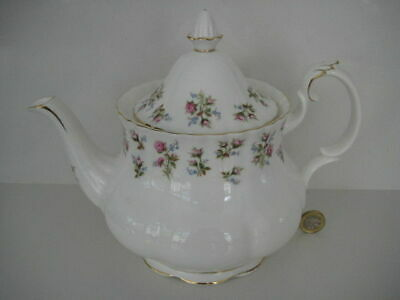 Vintage Royal Albert England Winsome Rose Large Teapot Bone China Pretty Pink