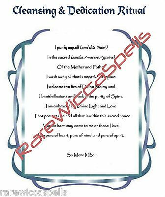 CLEANSING RITUAL, BOOK of Shadows Spell Page, Witchcraft, Wicca