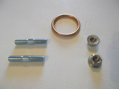 Honda CBF125 EXHAUST STUDS,STAINLESS STEEL NUTS & GASKET.