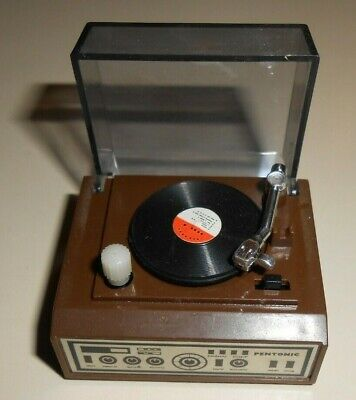 Miniature Doll House Stereo Record Player