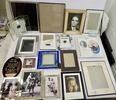 Home Decor vintage Picture Frames Variety of 17 Styles w/ Some Old Photographs