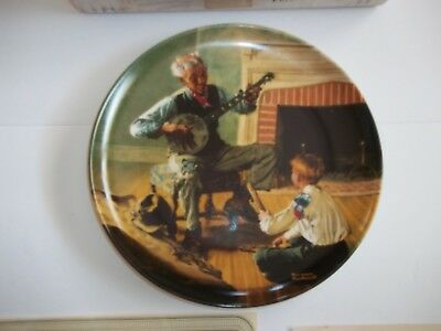 "Vintage Edwin M. Knowles China Plate. ""The Banjo Player"" - 1989"