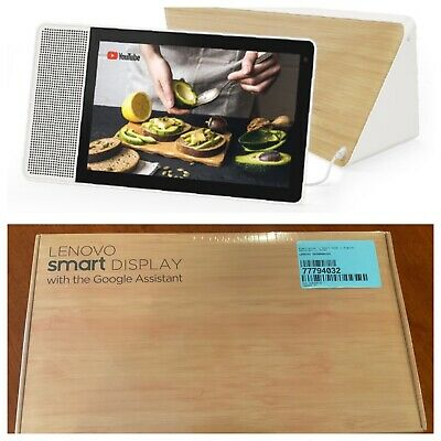"Lenovo - 10"" Smart Display Google Home Assistant Tablet White / Bamboo Grade A"