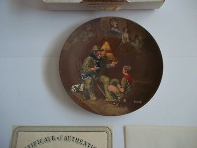 "Vintage Edwin M. Knowles China Plate. ""The Old Scout"" - Boy Scouts"