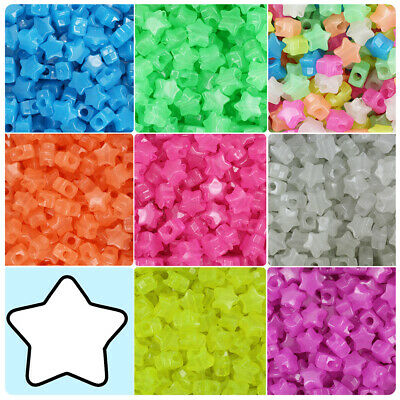 BeadTin Sparkle 13mm Butterfly Pony Beads 250pcs Color choice