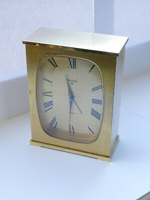 Swiza 15 Jewels Brass Carriage Clock