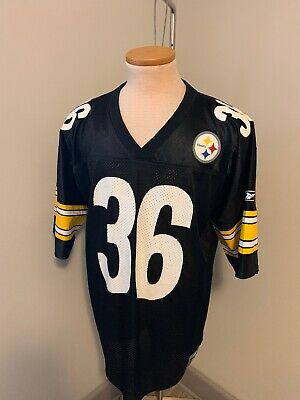 7ab65914b4a JEROME BETTIS PITTSBURGH Steelers Jersey Starter Size 48 L #36 Black ...