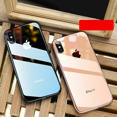 Funda Para Apple iPhone X XR XS Max 8 7 6S Plus Plateado templado Vidrio+Logo