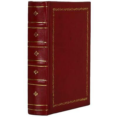 """Old Gilt Red Leather Bound Book Journal Notebook Diary Ruled Lined 5"""" X 7"""""""