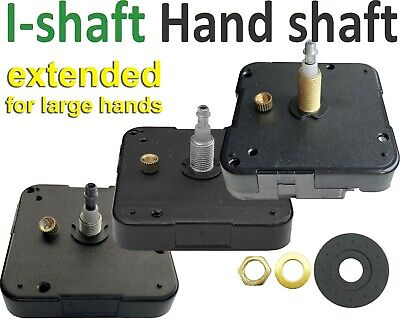 Quartz movement, I-shaft, High torque, extended shaft specially for large hands