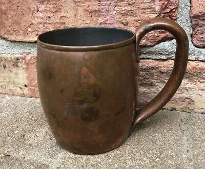 Vintage Solid Copper Moscow Mule Mug Cup GREAT PATINA