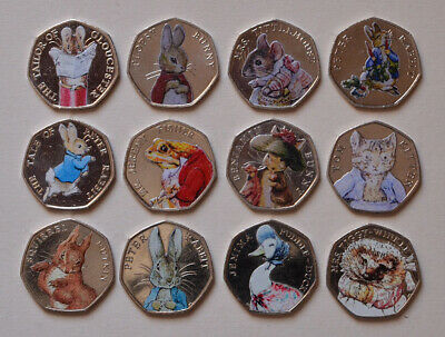 2016 2017 coloured 50p Beatrix Potter Jemima puddleduck Rabbit Winkle Fisher