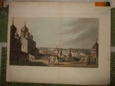 1814,Xxl-View,Of Moscow From The Kremlin ,Russia,Moskva,Oldcolor,Moskau,Moscovie