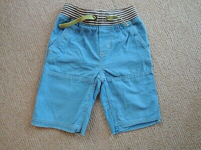 Boden Baby Boys Turquoise Cotton Shorts, Age 4 Ribbed/Elasticated Waist