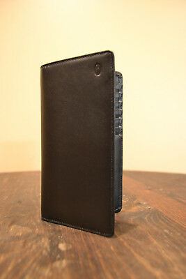 Hartmann Black Leather Checkbook Wallet NEW OLD STOCK