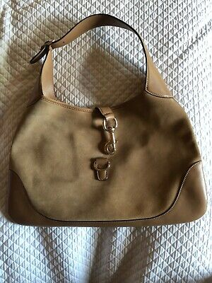 c33a31d5d13 Vintage GUCCI Purple Canvas Jackie O Bouvier Hobo Bag.