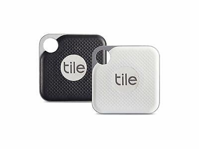 Tile Pro with Replaceable Battery Black White Pack of 2 SEALED