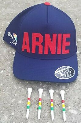 f8c652980bf32e Arnold Palmer Arnie Blue Snapback Hat & 4 Bay Hill Umbrella Tees Free  Shipping