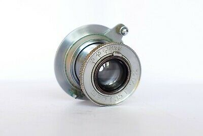 FED 3.5/50 USSR collapsible silver lens rangefinder M39 mount Leitz Elmar copy