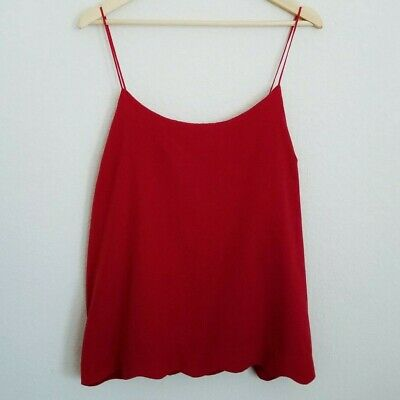 The Limited Red Tank Top Cami Scalloped Hem Women's XL EUC