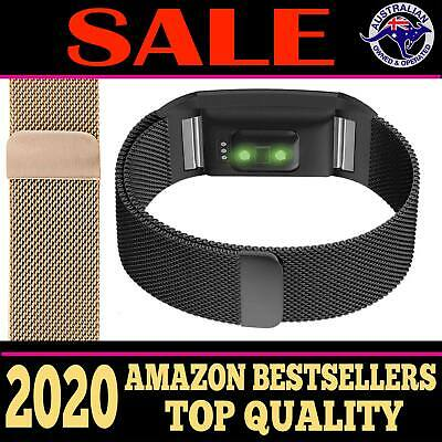 Fitbit Charge 2 Bands Replacement Metal Wristband Watch Strap Bracelet Sport AUS