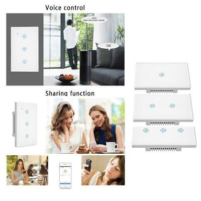 WIFI Smart Wall Light Touch Panel Switch Timing Socket App For Alexa Google Home