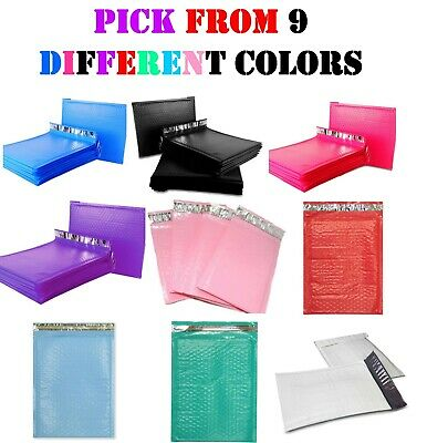 #0 6x10 Colored Poly Bubble Mailers Envelopes Shipping Bags Padded Mailing 6x9