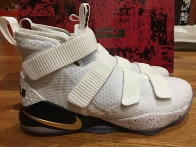 99cb66dad9df Nike Lebron Soldier XI 11 White Gold