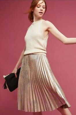 Nwt Anthropologie Frayed Linen Skirt Sz 8 Size New by Pilcro and the Letterpress