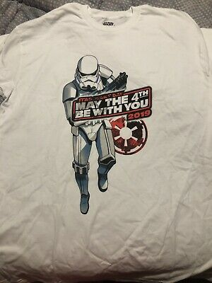 NWT Disney May The 4th Be With You 2019 Star Wars Disneyland Resort T Shirt XL