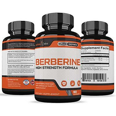 Prime Labs HIGH STRENGTH BERBERINE Supports Healthy Heart/Blood Sugar/Digestion+