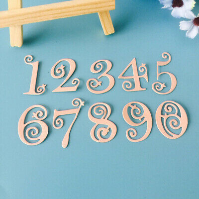 Stencil Numbers Lace Metal Cutting Dies Scrapbooking Embossing Paper Card Craft