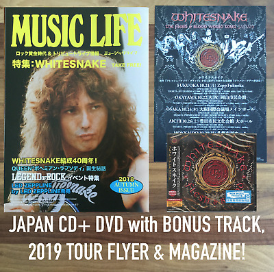 "3x JAPAN BONUSTRACK- LIMITED ED CD+DVD WITH OBI+ MAG! WHITESNAKE ""FLESH & BLOOD"""