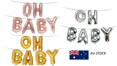 40cm OH BABY rose gold/ gold/ silver hanging foil balloon Baby Shower party