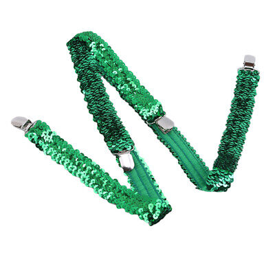 Suspenders Adjustable Braces Elastic Party Belt Men Sequin womens Glitter FW