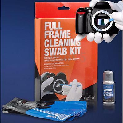 Full Frame DSLR Sensor Cleaning Kit Professional Camera 12 Swabs + 0.5oz