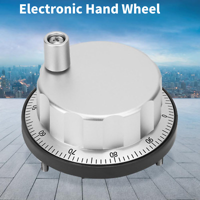 CNC MPG Machine Hand Wheel Manual Pulse Generator Encoder VGM6 5V 60mm
