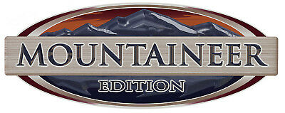 "Montana /""MOUNTAINEER EDITION/"" RV LOGO Graphic Lettering decal 5th Wheel"
