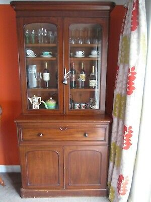 Antique Victorian Secretaire bookcase desk bureau