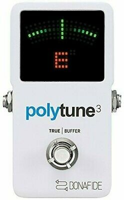 tc electronic PolyTune 3 Guitar Holistic Tuner Built-in Buffer 5706622022202