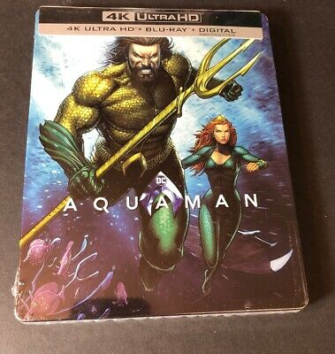 Aquaman [ Limited STEELBOOK Edition ] (4K Ultra HD Blu-ray Disc) NEW