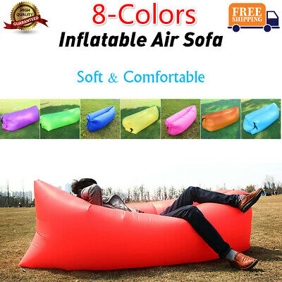 Air Sofa Inflatable Lounger Couch Beach Bed Lazy Chair Camping Sleeping Hiking