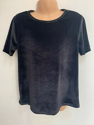 Ex RIVER ISLAND Girls Black Top Age 11 - 12 Years Old