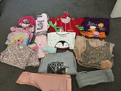 Girls 2-3 Years Large Clothes Bundle Next Star Wars Frozen Peppa Pig Bluezoo