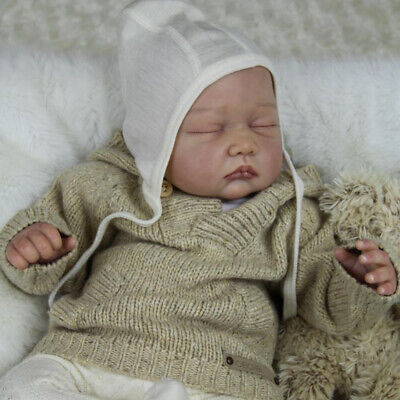 Real Touch Soft Silicone 22inch Reborn Kits Lifelike Sleep Baby Doll Blank