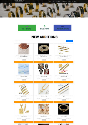 Gold Jewelry Uk Website - With New Domain + Hosting - Home Business