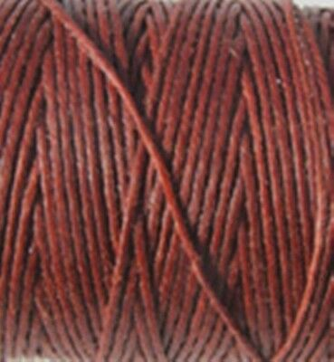 Crawford Waxed Irish Linen 7 Ply 1mm x 5metres Macrame & Beading Colour Rust/Red