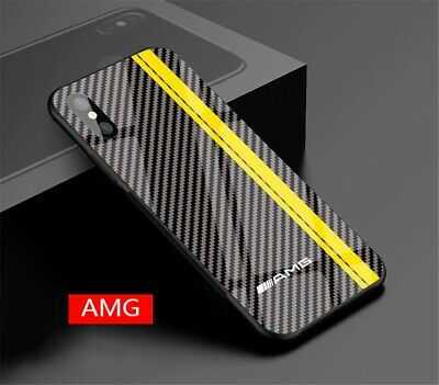 Mercedes AMG Motorsports Tempered Glass case iPhone 6 6S 7 8 + plus X XR XS MAX