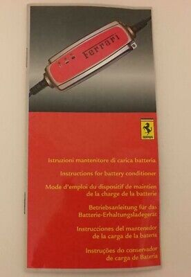 Ferrari Battery Conditioner Hand Book California, 458,599,612 UK